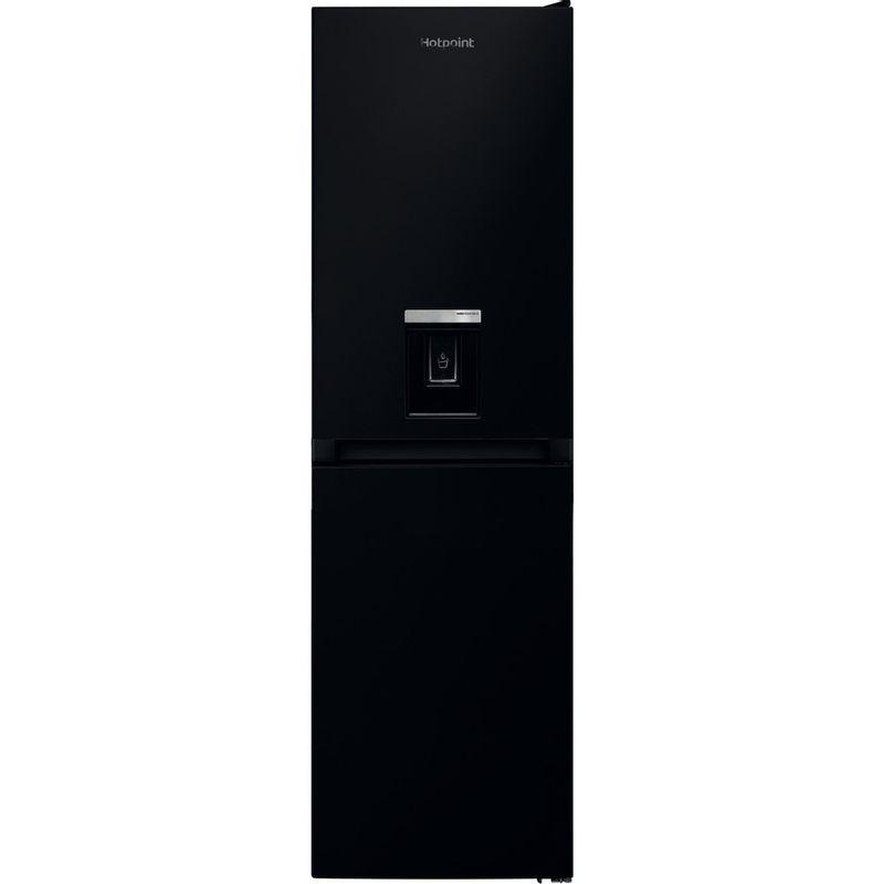 Hotpoint-Fridge-Freezer-Free-standing-HBNF-55181-B-AQUA-UK-1-Black-2-doors-Frontal