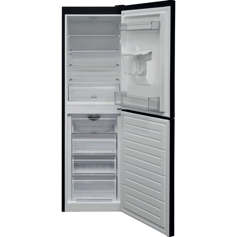 Hotpoint-Fridge-Freezer-Free-standing-HBNF-55181-B-AQUA-UK-1-Black-2-doors-Frontal-open