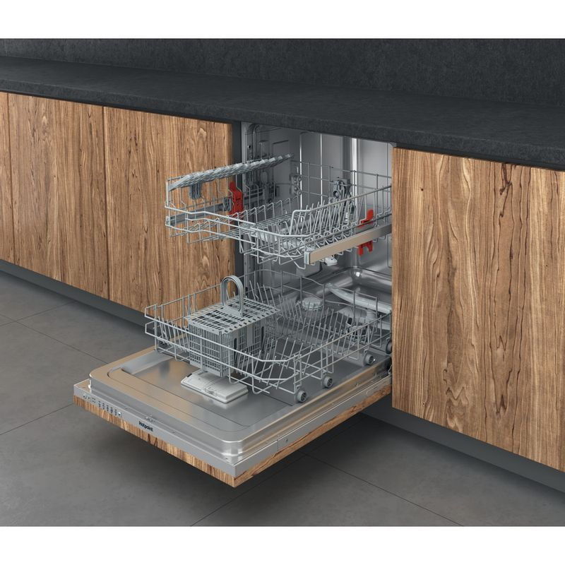 Hotpoint-Dishwasher-Built-in-HIE-2B19-UK-Full-integrated-F-Perspective-open
