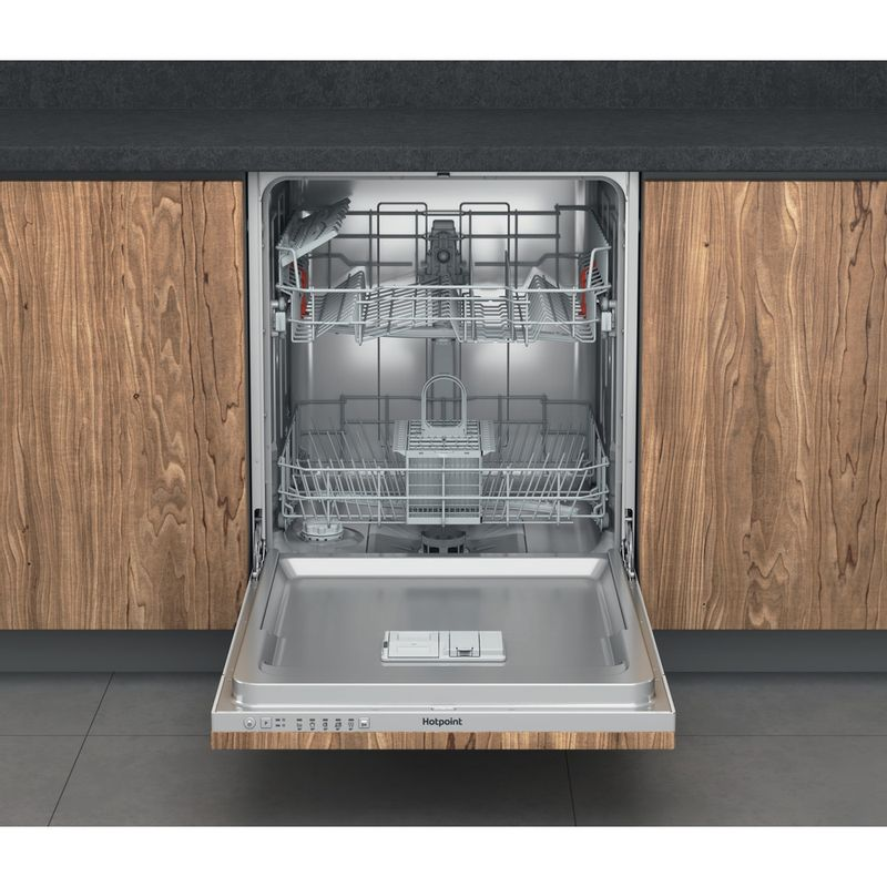 Hotpoint-Dishwasher-Built-in-HIE-2B19-UK-Full-integrated-F-Frontal-open