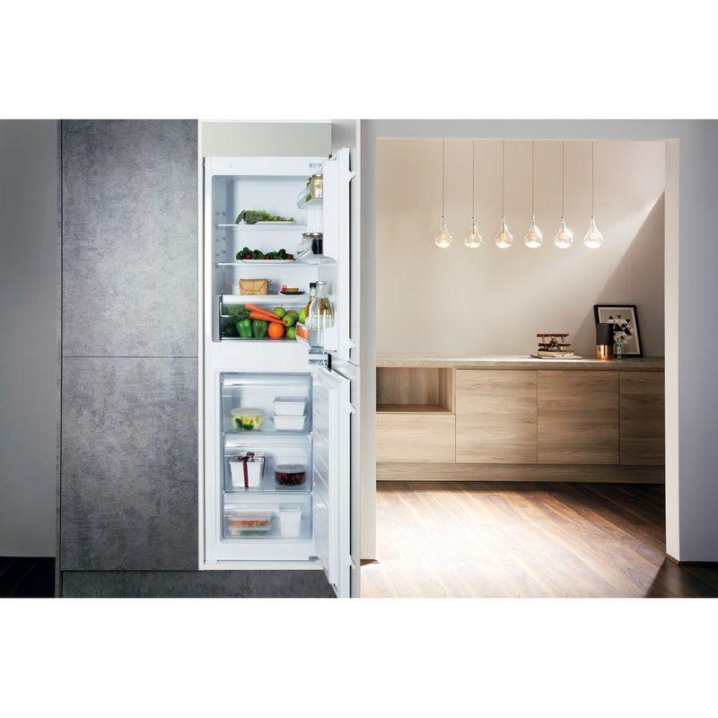 Hotpoint-Fridge-Freezer-Built-in-HMCB-50501-UK-White-2-doors-Lifestyle-frontal-open