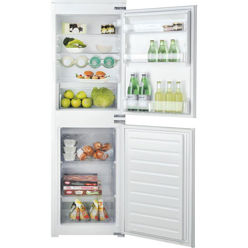 Hotpoint-Fridge-Freezer-Built-in-HMCB-505011-UK-White-2-doors-Frontal-open