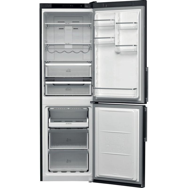 Hotpoint-Fridge-Freezer-Free-standing-H5T-811I-K-H-1-Black-2-doors-Frontal-open