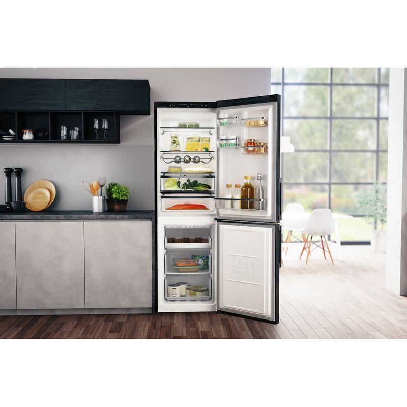 Hotpoint-Fridge-Freezer-Free-standing-H5T-811I-K-H-1-Black-2-doors-Lifestyle-frontal-open