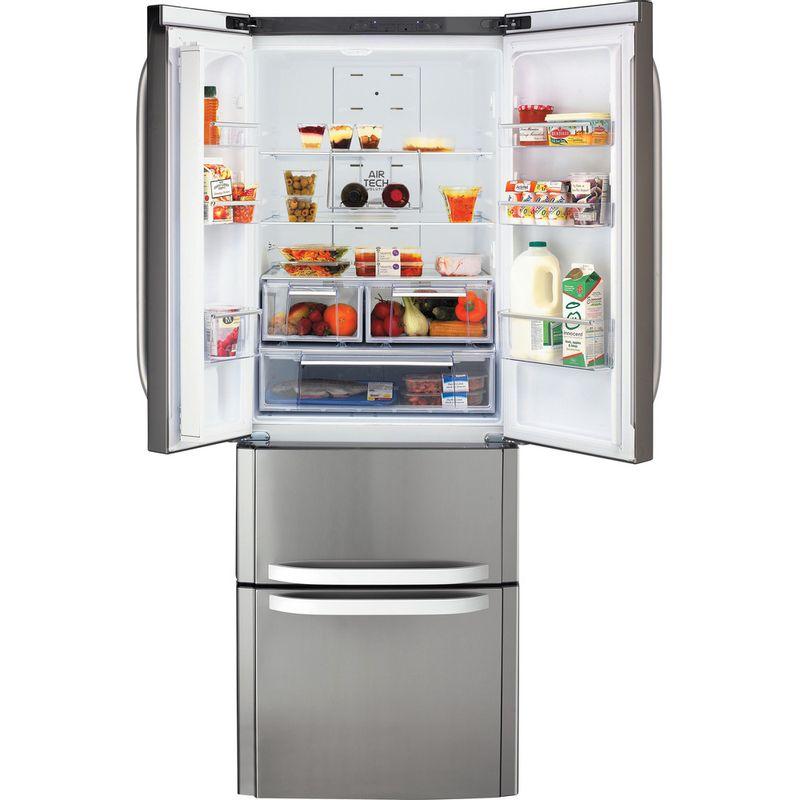 Hotpoint-Fridge-Freezer-Free-standing-FFU4D-X-1-Inox-4-doors-Frontal-open