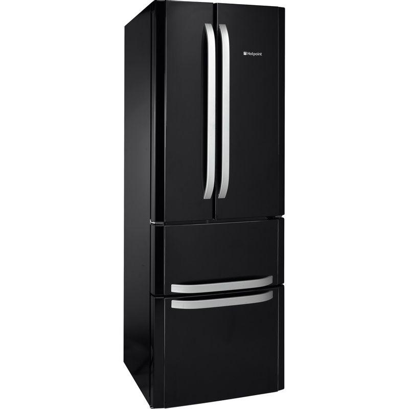 Hotpoint-Fridge-Freezer-Free-standing-FFU4D-K-1-Black-4-doors-Perspective