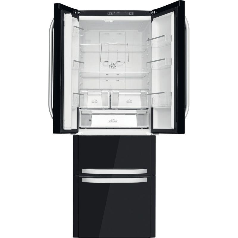 Hotpoint-Fridge-Freezer-Free-standing-FFU4D-K-1-Black-4-doors-Frontal-open