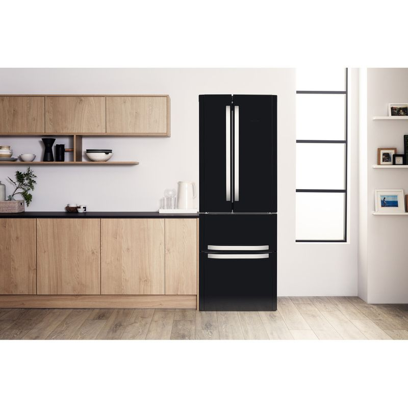 Hotpoint-Fridge-Freezer-Free-standing-FFU4D-K-1-Black-4-doors-Lifestyle-frontal