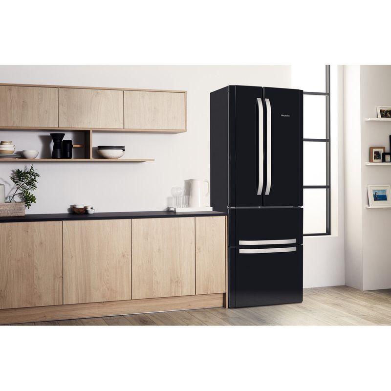 Hotpoint-Fridge-Freezer-Free-standing-FFU4D-K-1-Black-4-doors-Lifestyle-perspective