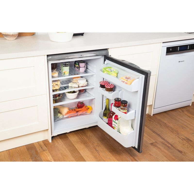 Hotpoint-Refrigerator-Free-standing-RLA36G-1-Graphite-Lifestyle-perspective-open