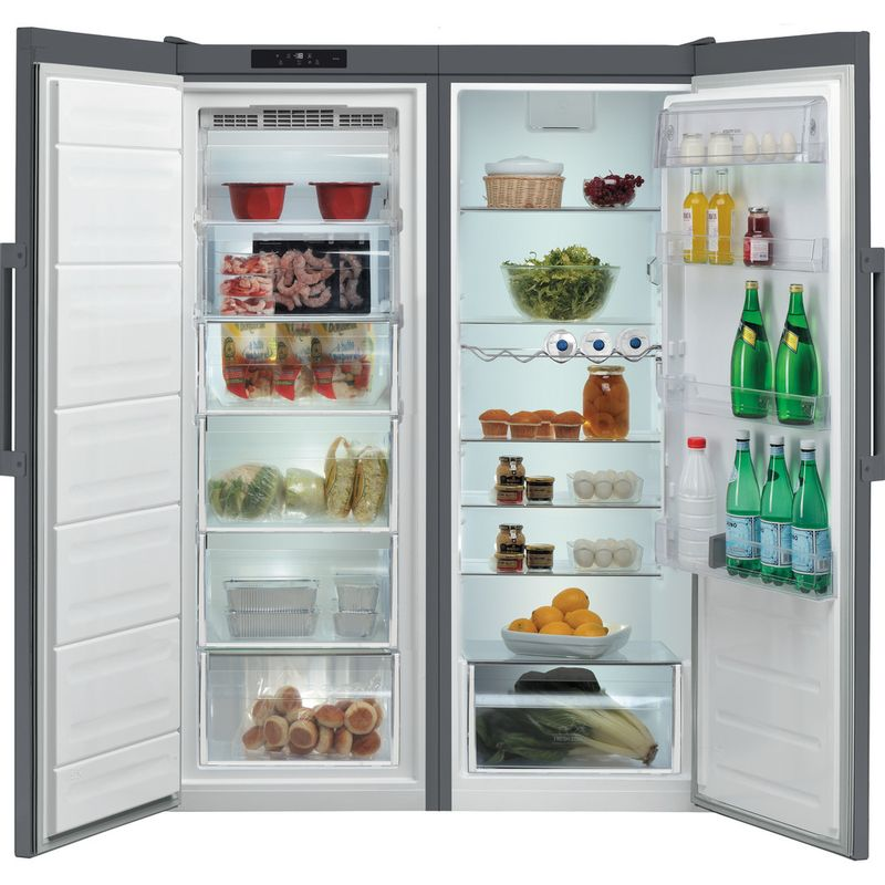 Hotpoint-Freezer-Free-standing-UH6-F1C-G-1-Graphite-Frontal-open