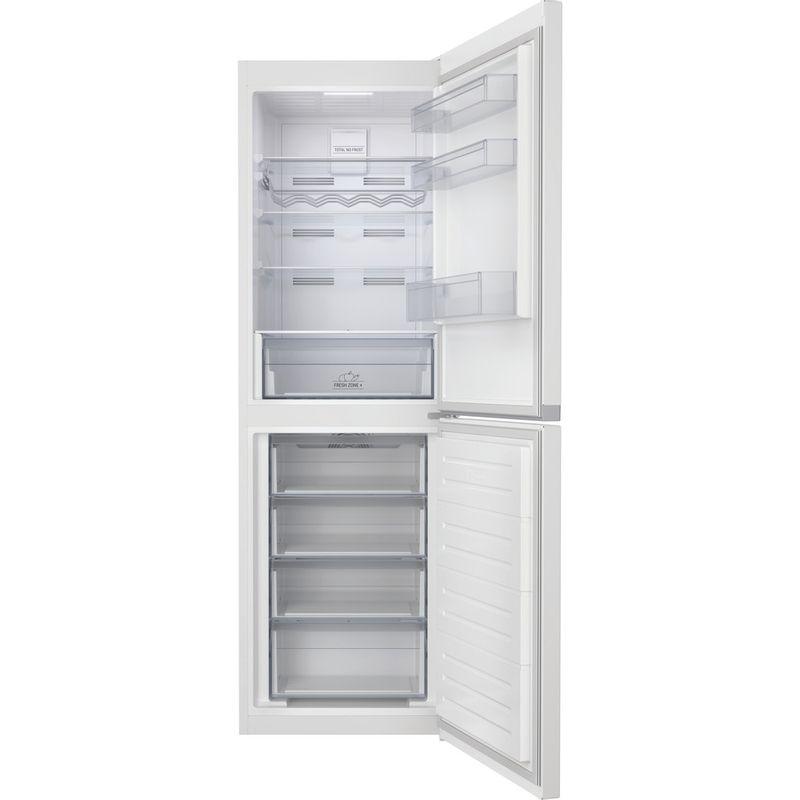 Hotpoint-Fridge-Freezer-Free-standing-HTFC8-50TI1-W-1-White-2-doors-Frontal-open