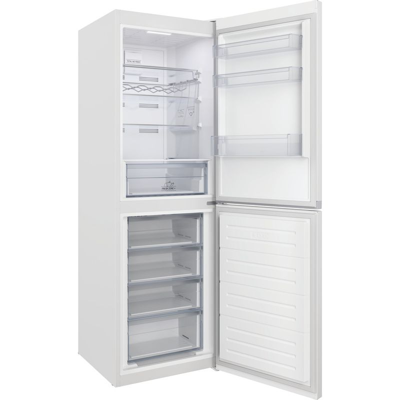 Hotpoint-Fridge-Freezer-Free-standing-HTFC8-50TI1-W-1-White-2-doors-Perspective-open