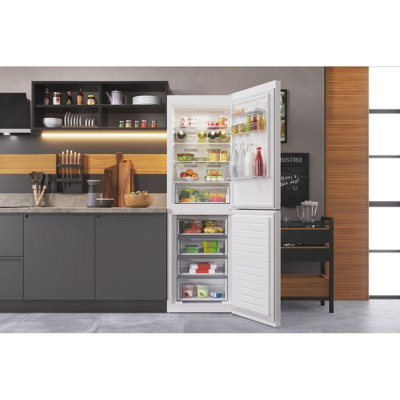 Hotpoint-Fridge-Freezer-Free-standing-HTFC8-50TI1-W-1-White-2-doors-Lifestyle-frontal-open