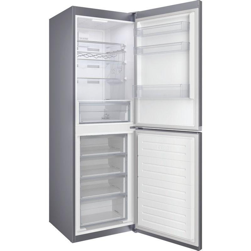 Hotpoint-Fridge-Freezer-Free-standing-HTFC8-50TI1-X-1-Inox-2-doors-Perspective-open