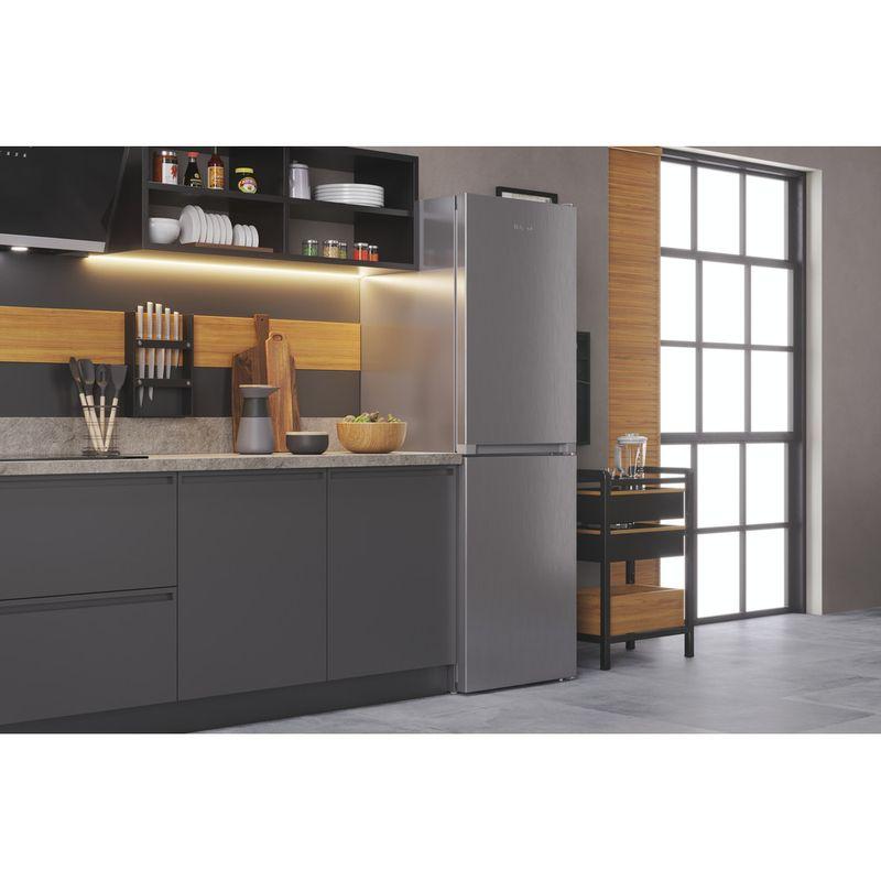 Hotpoint-Fridge-Freezer-Free-standing-HTFC8-50TI1-X-1-Inox-2-doors-Lifestyle-perspective