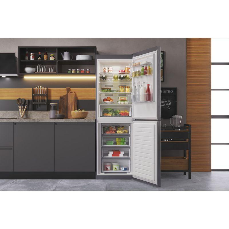Hotpoint-Fridge-Freezer-Free-standing-HTFC8-50TI1-X-1-Inox-2-doors-Lifestyle-frontal-open