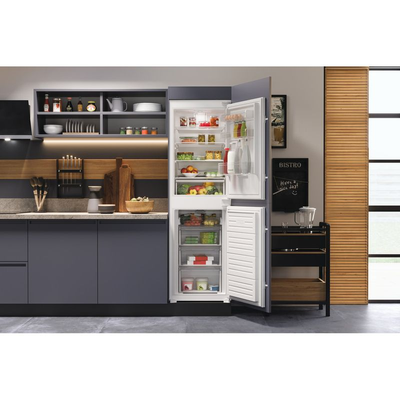 Hotpoint-Fridge-Freezer-Built-in-HBC18-5050-F1-White-2-doors-Lifestyle-frontal-open