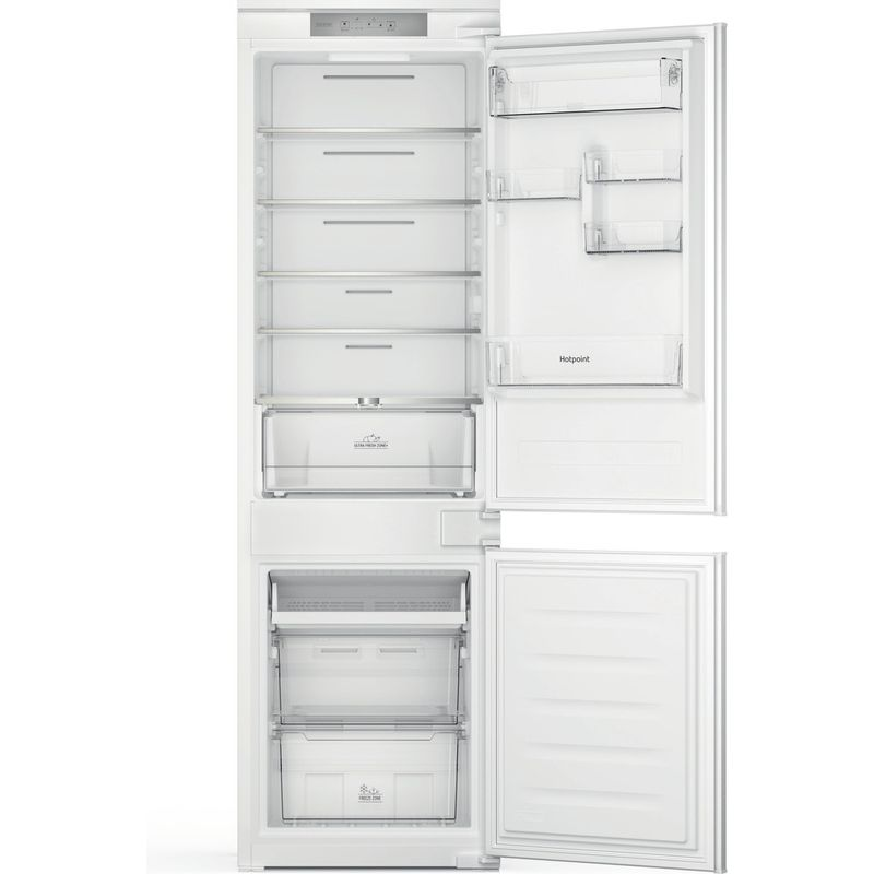 Hotpoint-Fridge-Freezer-Built-in-HTC18-T311-UK-White-2-doors-Frontal-open