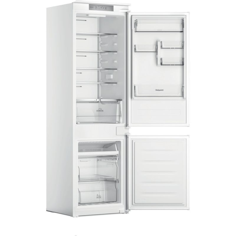 Hotpoint-Fridge-Freezer-Built-in-HTC18-T311-UK-White-2-doors-Perspective-open