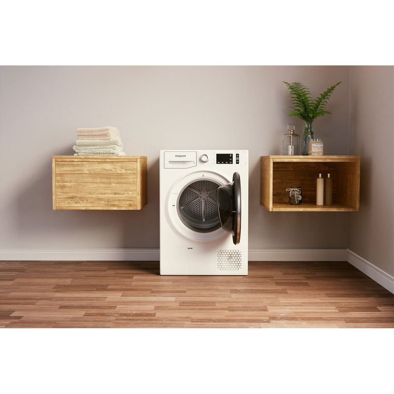 Hotpoint-Dryer-NT-M11-9X3E-UK-White-Lifestyle-frontal-open