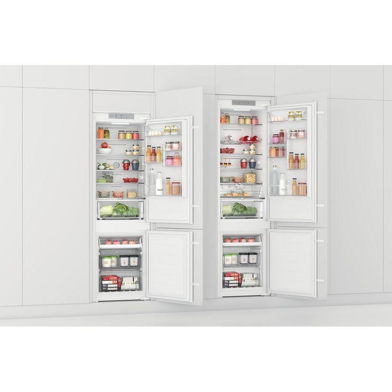 Hotpoint-Fridge-Freezer-Built-in-HTC18-T532-UK-White-2-doors-Perspective-open