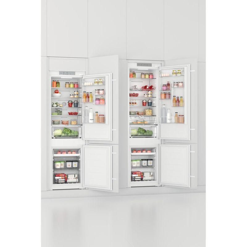 Hotpoint-Fridge-Freezer-Built-in-HTC18-T532-UK-White-2-doors-Lifestyle-perspective-open