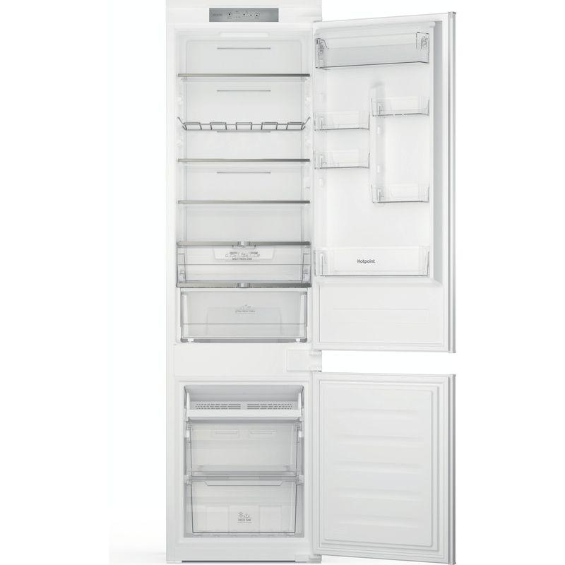 Hotpoint-Fridge-Freezer-Built-in-HTC20-T321-UK-White-2-doors-Frontal-open