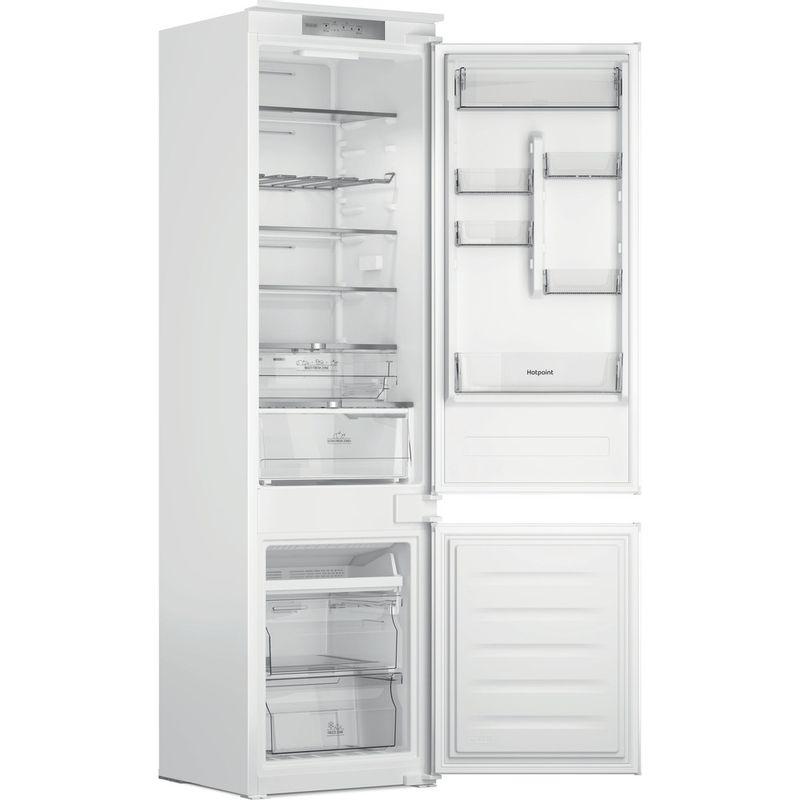 Hotpoint-Fridge-Freezer-Built-in-HTC20-T321-UK-White-2-doors-Perspective-open