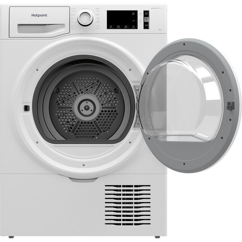 Hotpoint-Dryer-H3-D91WB-UK-White-Frontal-open