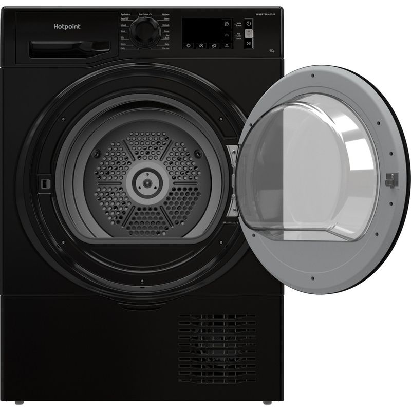 Hotpoint-Dryer-H3-D91B-UK-Black-Frontal-open