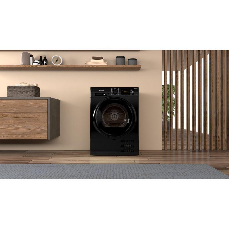 Hotpoint-Dryer-H3-D91B-UK-Black-Lifestyle-frontal