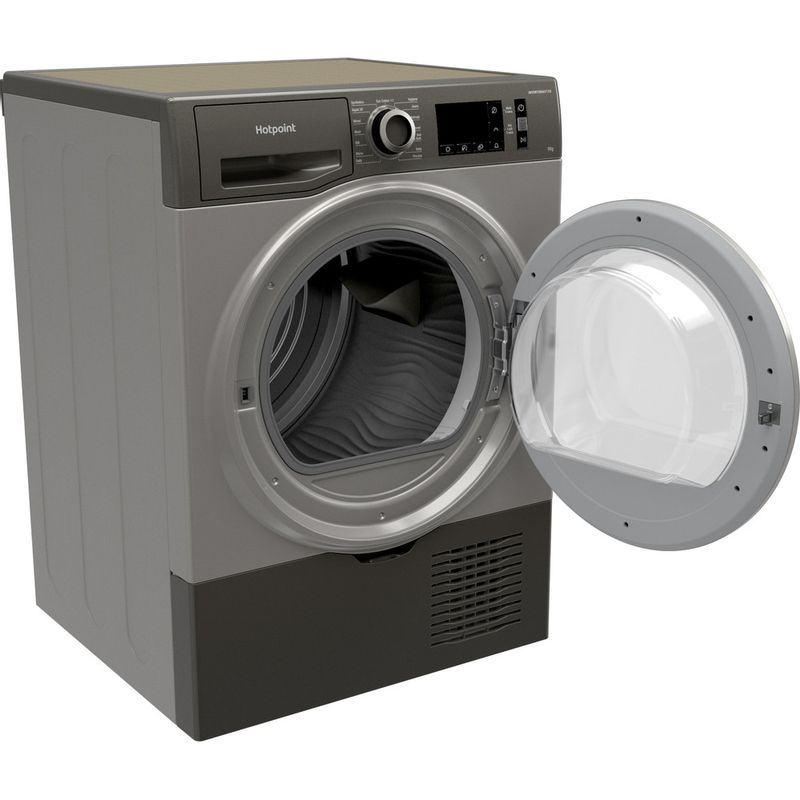 Hotpoint-Dryer-H3-D91GS-UK-Graphite-Perspective-open