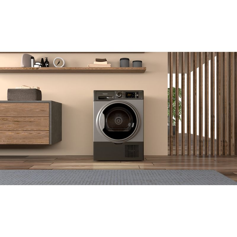 Hotpoint-Dryer-H3-D91GS-UK-Graphite-Lifestyle-frontal
