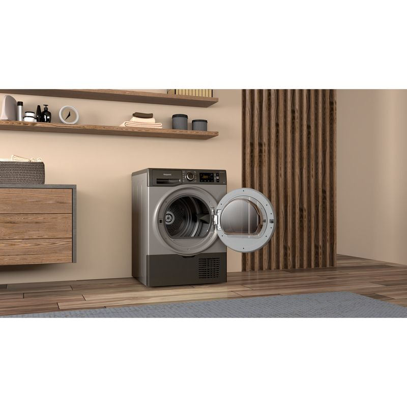 Hotpoint-Dryer-H3-D91GS-UK-Graphite-Lifestyle-perspective-open