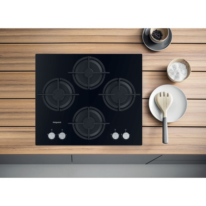 Hotpoint-HOB-HGS-61S-BK-Black-GAS-Lifestyle-frontal