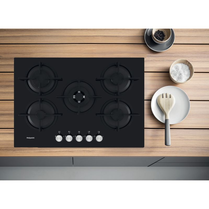 Hotpoint-HOB-HGS-72S-BK-Black-GAS-Lifestyle-frontal