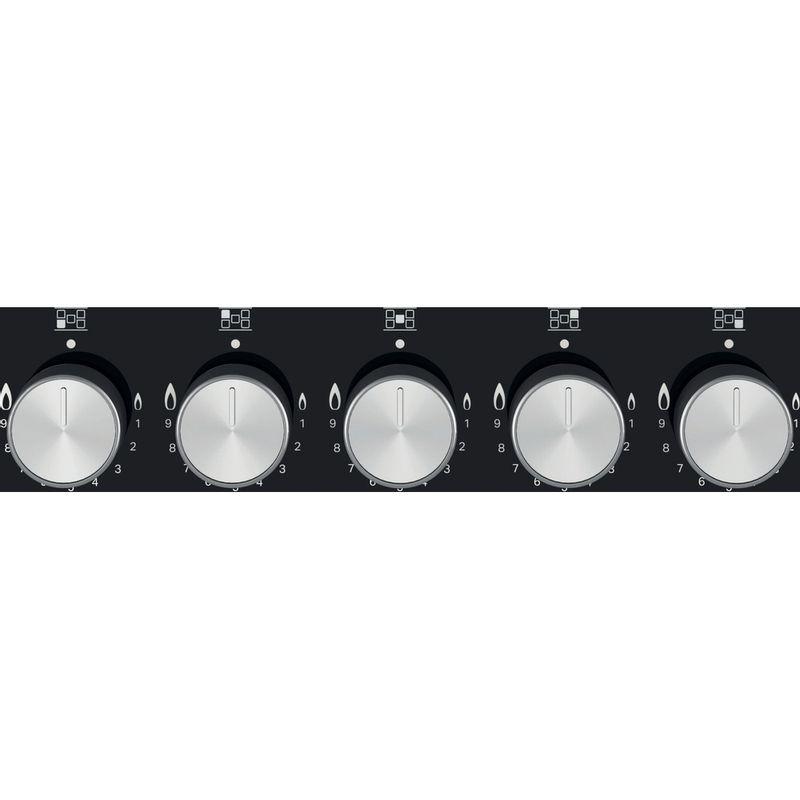 Hotpoint-HOB-HGS-72S-BK-Black-GAS-Control-panel