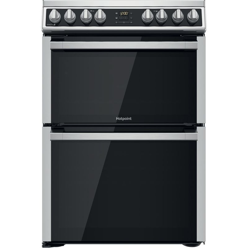 Hotpoint-Double-Cooker-HDM67V8D2CX-UK-Inox-A-Frontal