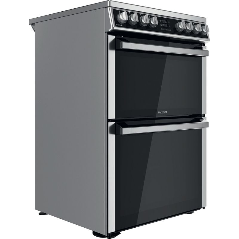 Hotpoint-Double-Cooker-HDM67V8D2CX-UK-Inox-A-Perspective