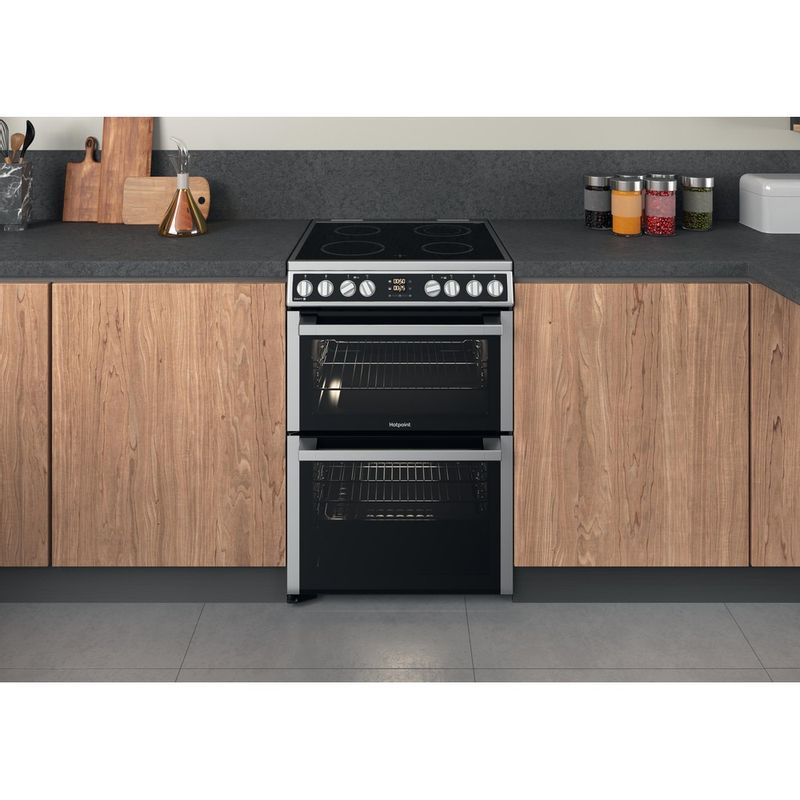 Hotpoint-Double-Cooker-HDM67V8D2CX-UK-Inox-A-Lifestyle-frontal