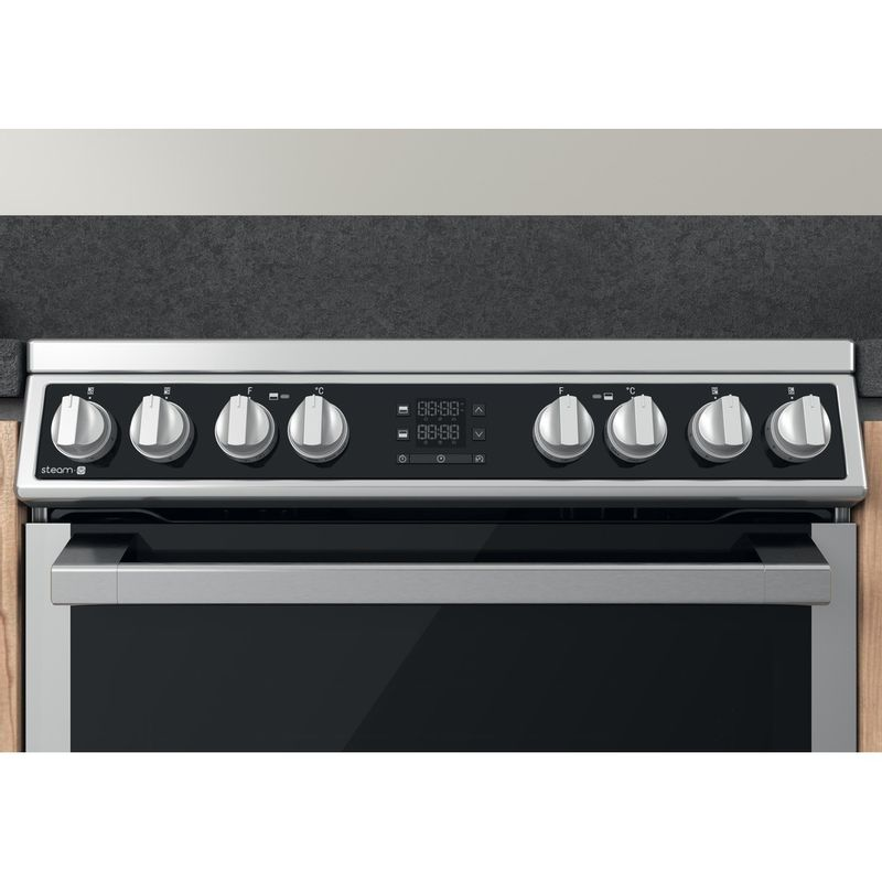Hotpoint-Double-Cooker-HDM67V8D2CX-UK-Inox-A-Control-panel
