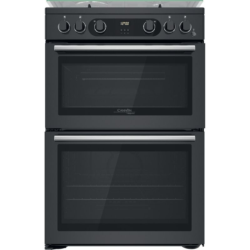 Hotpoint-Double-Cooker-CD67G0C2CA-UK-Antracite-A--Frontal