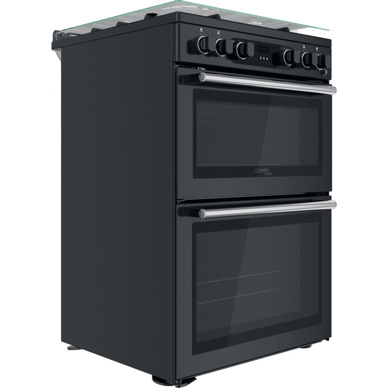 Hotpoint-Double-Cooker-CD67G0C2CA-UK-Antracite-A--Perspective