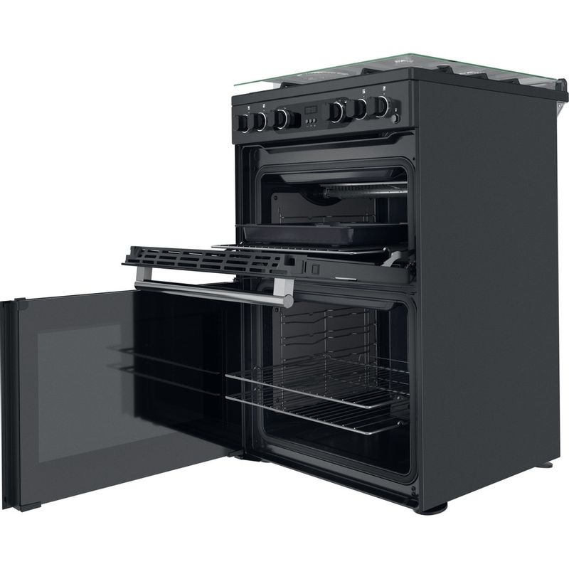 Hotpoint-Double-Cooker-CD67G0C2CA-UK-Antracite-A--Perspective-open