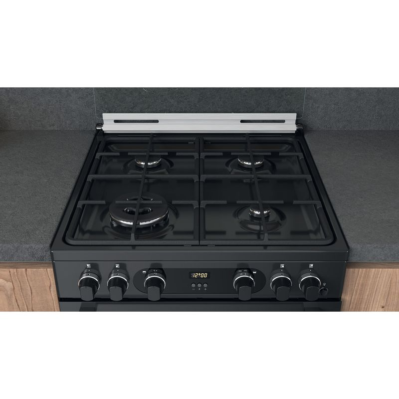 Hotpoint-Double-Cooker-CD67G0C2CA-UK-Antracite-A--Lifestyle-frontal-top-down
