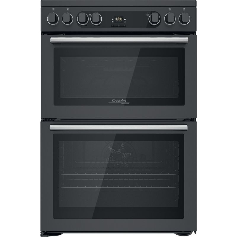 Hotpoint-Double-Cooker-CD67V9H2CA-UK-Antracite-A-Frontal