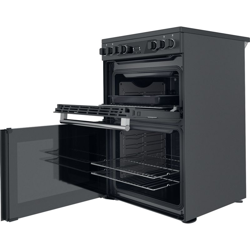 Hotpoint-Double-Cooker-CD67V9H2CA-UK-Antracite-A-Perspective-open