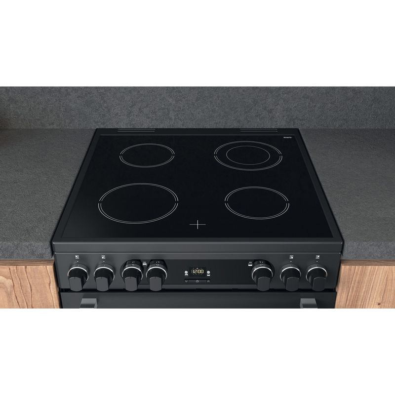 Hotpoint-Double-Cooker-CD67V9H2CA-UK-Antracite-A-Lifestyle-frontal-top-down