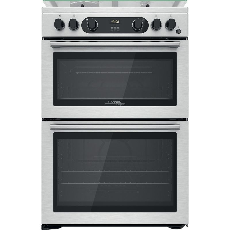 Hotpoint-Double-Cooker-CD67G0CCX-UK-Inox-A--Frontal
